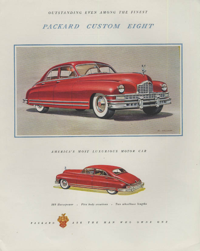 Image for Outstanding even among the finest Packard Custom Eight ad 1948 F