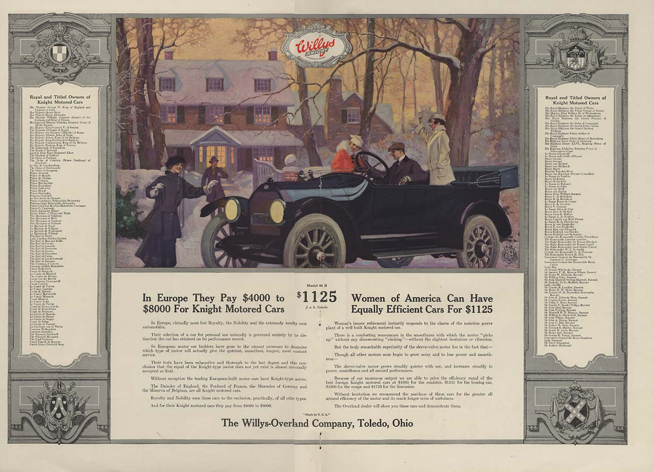 Image for Women of America can have the Willys-Knight ad / Jessie Willcox Smith page 1916