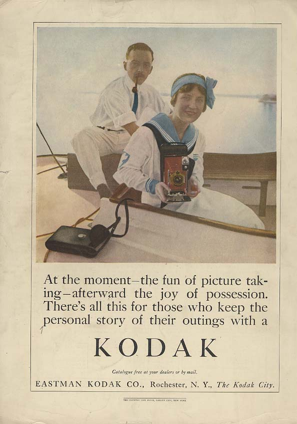 Image for At the moment the fun of picture taking Kodak Camera ad 1913 CL