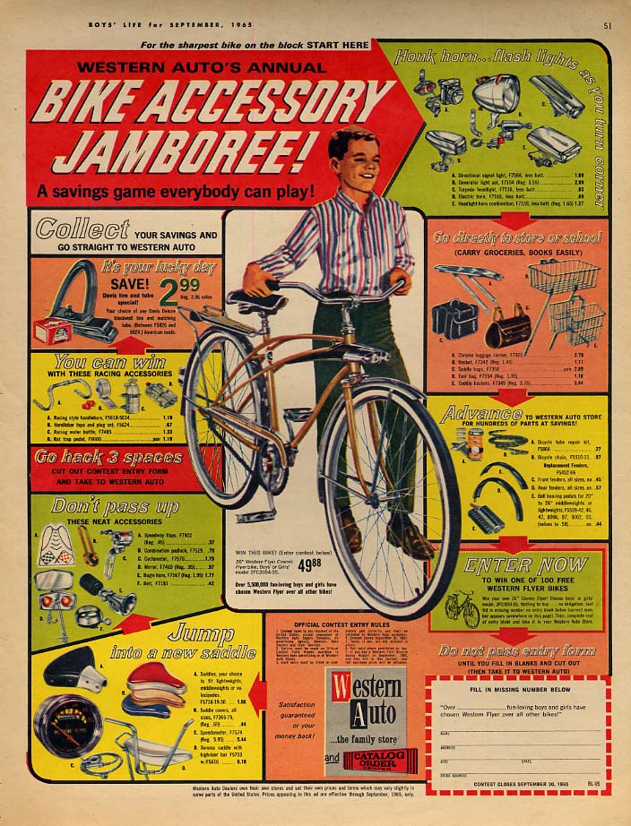 Image for Western Auto's Annual Bicycle Accessory Jamboree ad 1965 BL