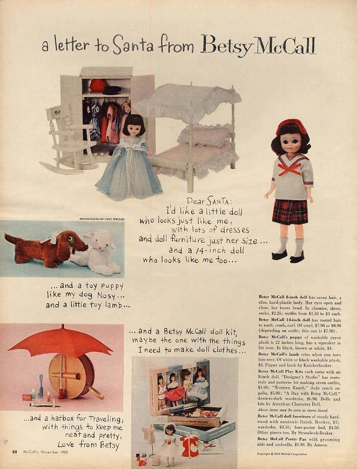 Image for A letter to Santa from Betsy McCall paper doll page 11 1958