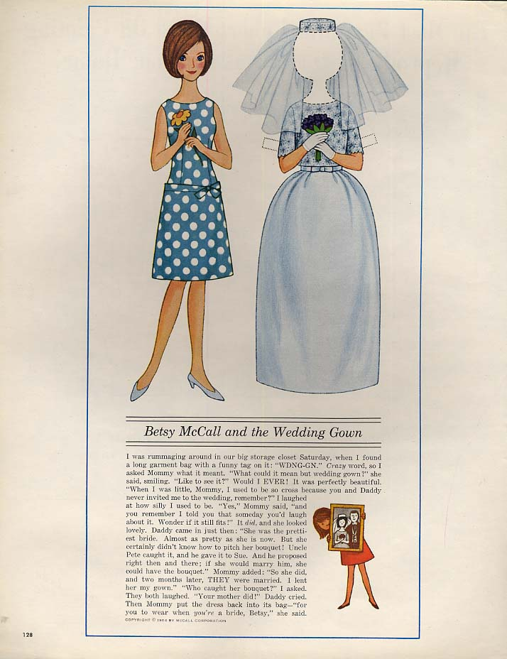 Image for Betsy McCall and the Wedding Gown paper doll page 6 1964