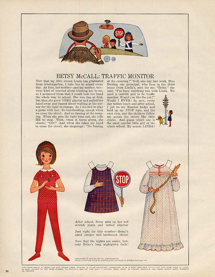 Image for Betsy McCall: Traffic Monitor paper doll page 9 1964