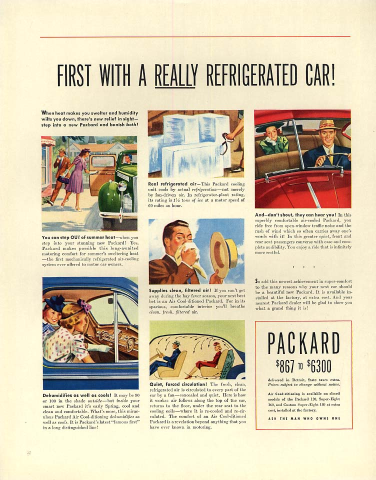 Image for First with a really refrigerated car! Packard ad 1940 F