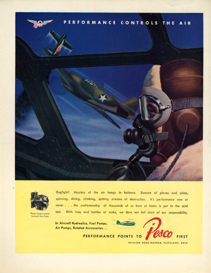 Image for Republic P-47 Thunderbolt Dogfight! Pesco Aircraft ad 1843 F