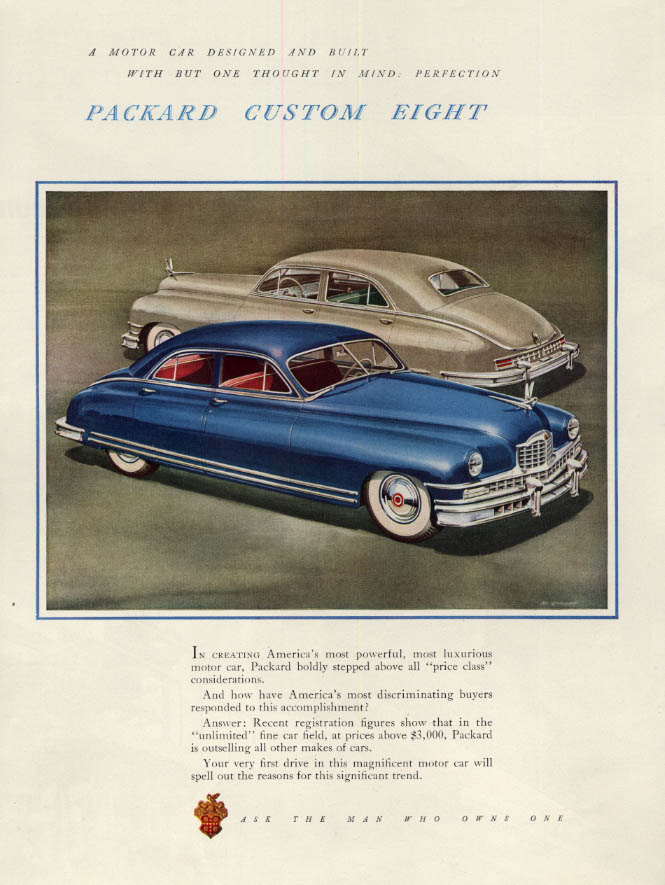 Image for One Though in Mind: Perfection: Packard Custom Eight ad 1949 F