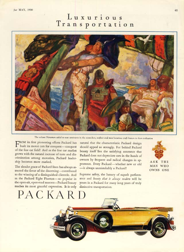 Image for From it first pioneering efforts - Packard Convertible Sedan ad 1930 SPT