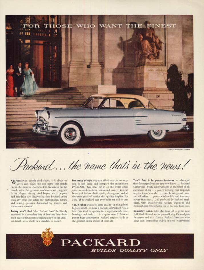 Image for The name that's in the news! Packard Hardtop ad 1954 H