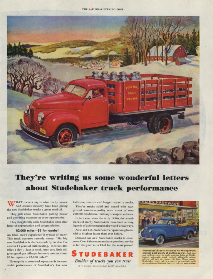 Image for They're writing wonderful letters about Studebaker Stakeside Truck ad 1948 SEP