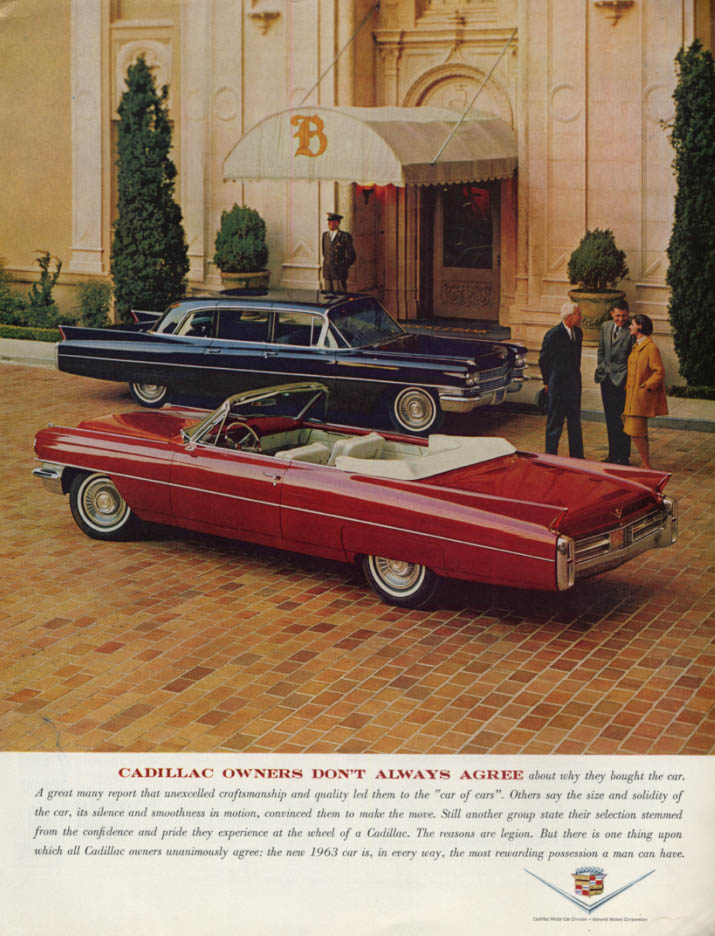 Image for Cadillac owners don't always agree Convertible & Limousine ad 1963 H