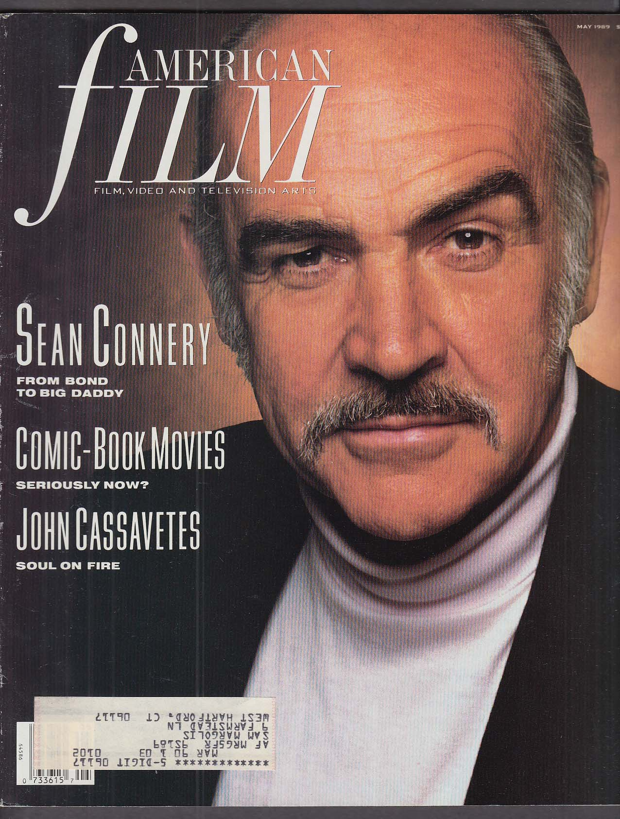Image for AMERICAN FILM Sean Connery John Cassavetes Comic book movies 5 1989