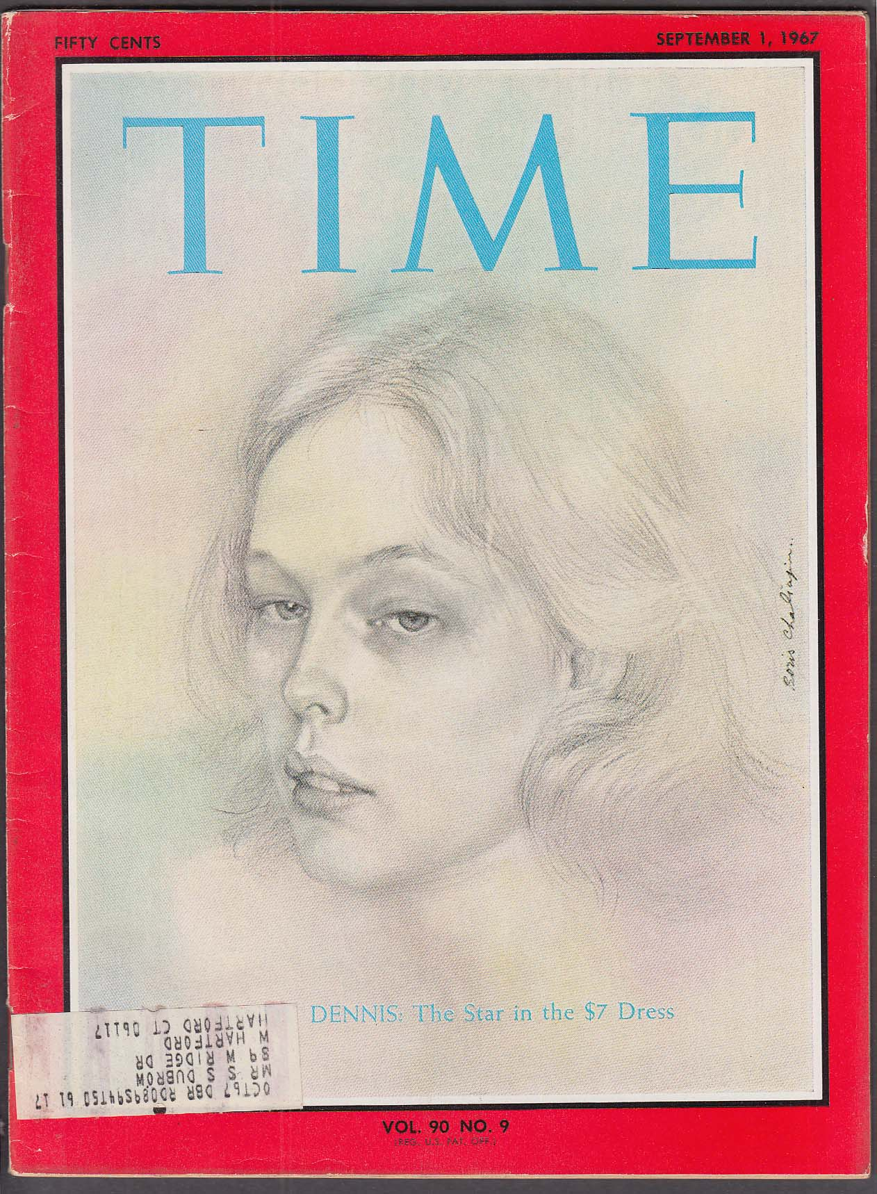 Image for TIME Sandy Dennis New Haven LBJ Shah Iran McNamara + 9/1 1967