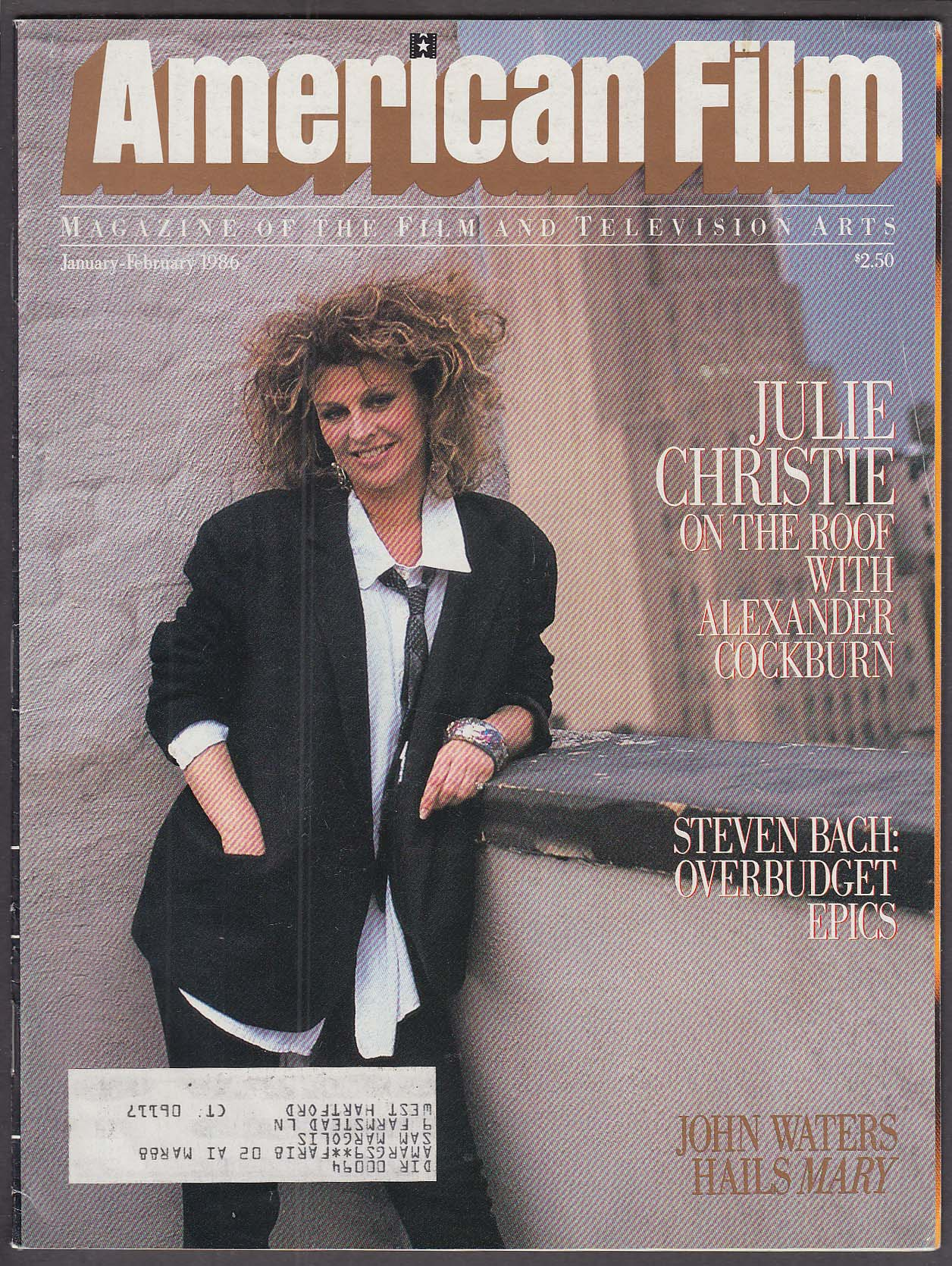 Image for AMERICAN FILM Julie Christie; Grace Jones; Fred Zinnemann interview 1/2 1986