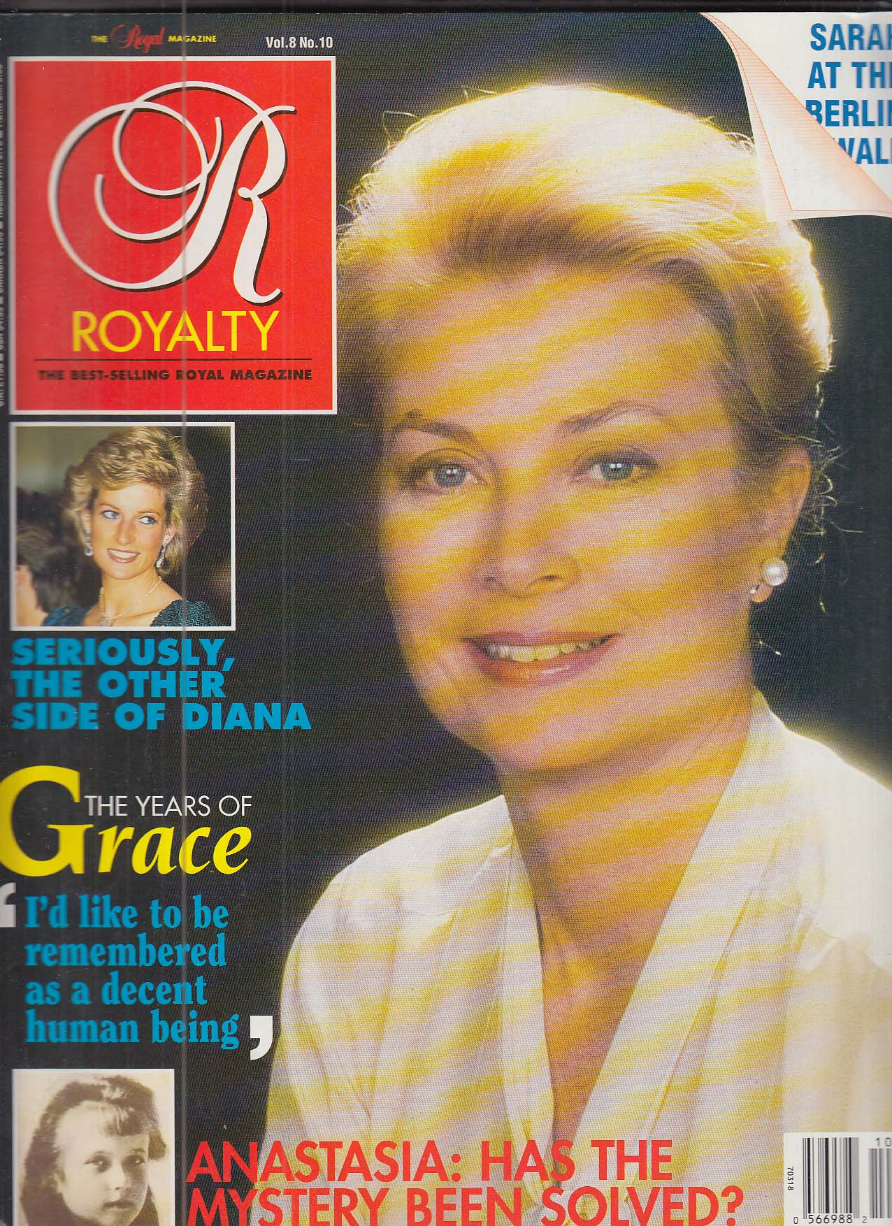 Image for ROYALTY Vol 8 #10 Princess Grace Kelly Princess Diana 7 1989