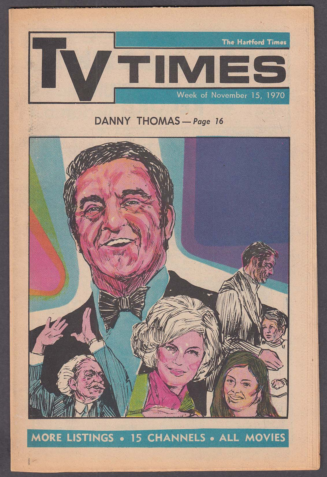 Image for TV TIMES Danny Thomas 11/15 1970