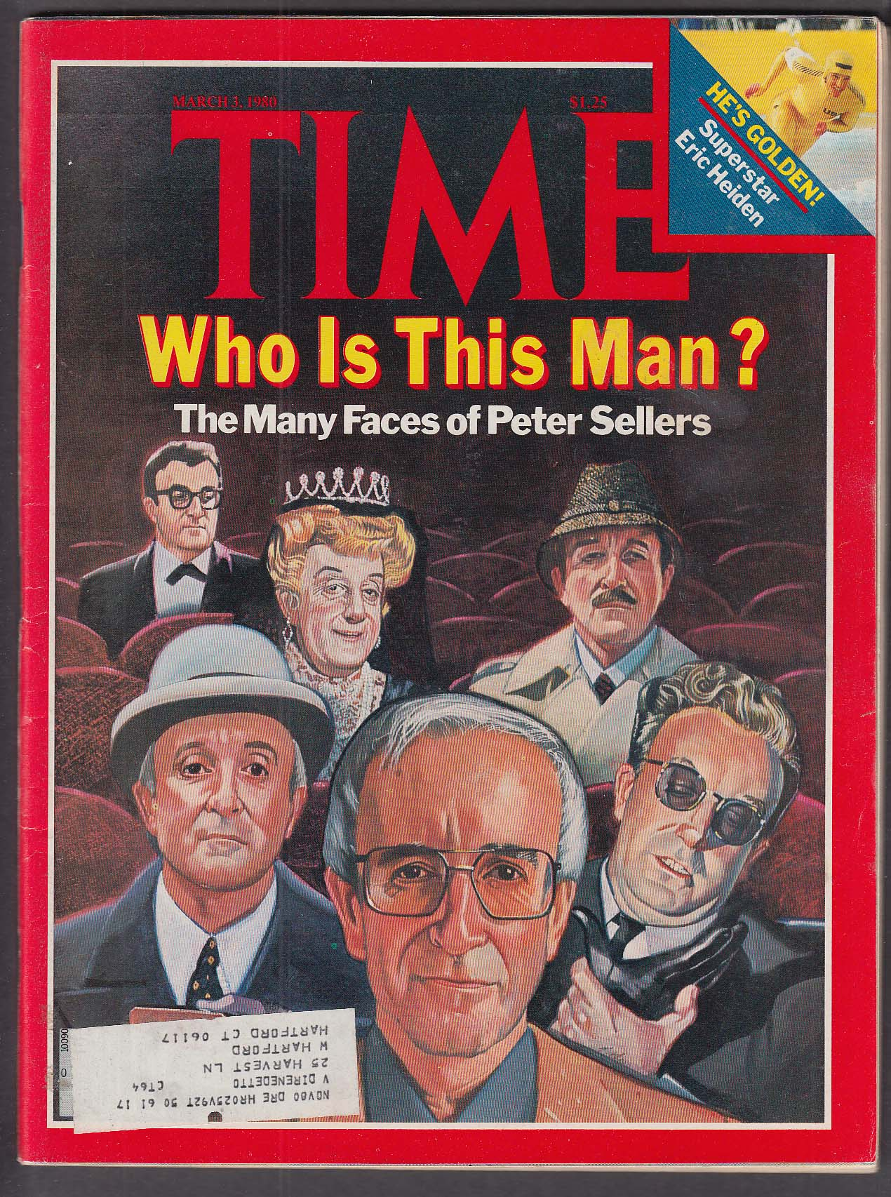 Image for TIME Peter Sellers Eric Heiden Shah of Iran Afghanistan Pierre Trudeau 3/3 1980