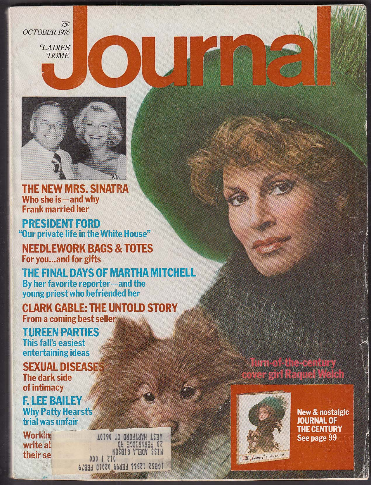 Image for LADIES' HOME JOURNAL Raquel Welch Gable Sinatra Martha Mitchell + 10 1976