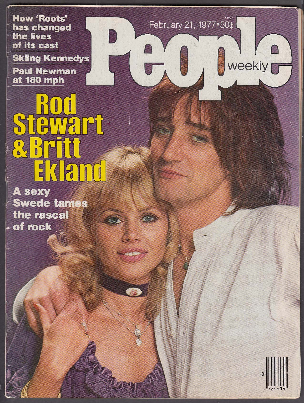 Image for PEOPLE Rod Stewart Britt Ekland Paul Newman Roots 2/21 1977