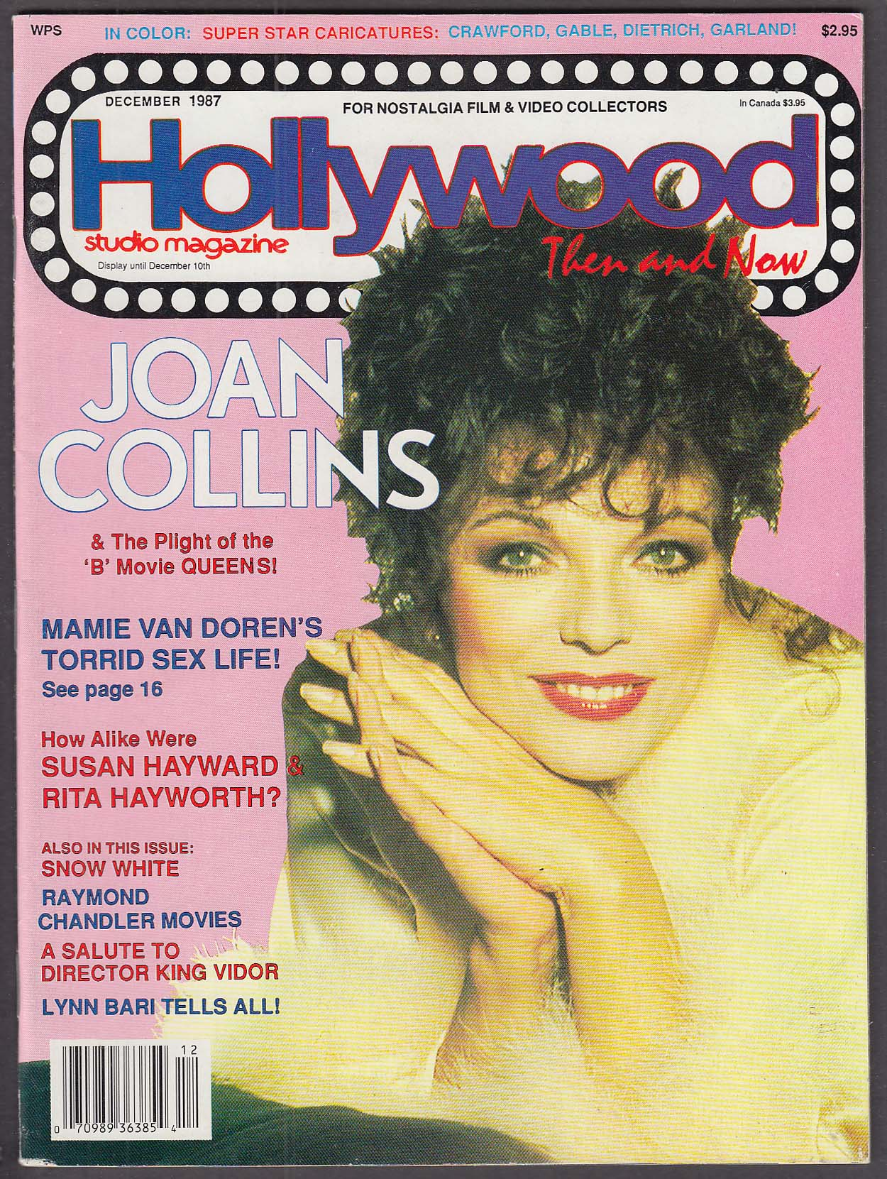 Image for HOLLYWOOD Then & Now Joan Collins Mamie Van Doren Susan Hayward Hayworth 12 1987