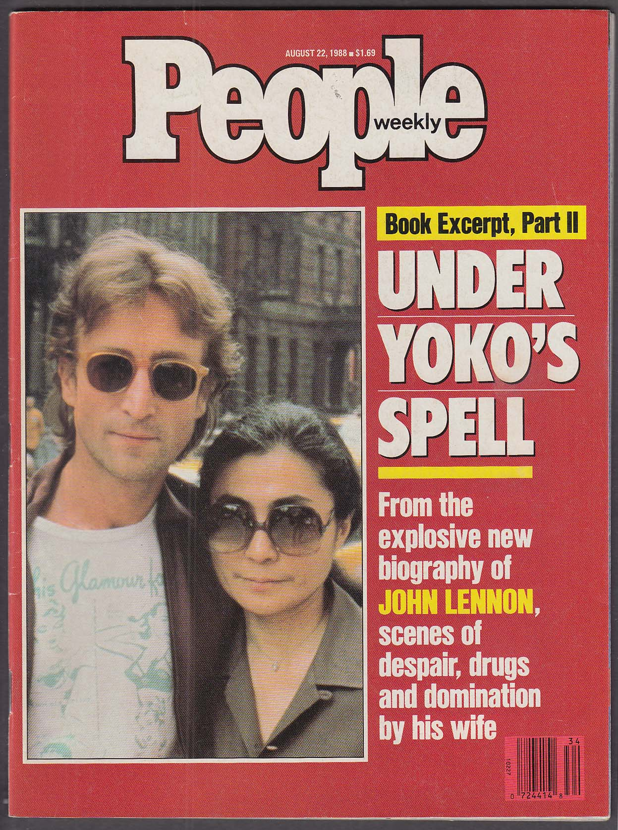 Image for PEOPLE John Lennon Yoko Ono 8/22 1988