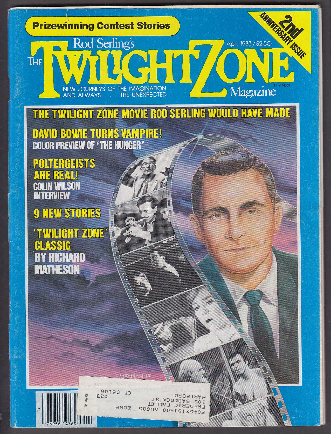 Image for TWILIGHT ZONE David Bowie The Hunger Richard Matheson Colin Wilson 4 1983