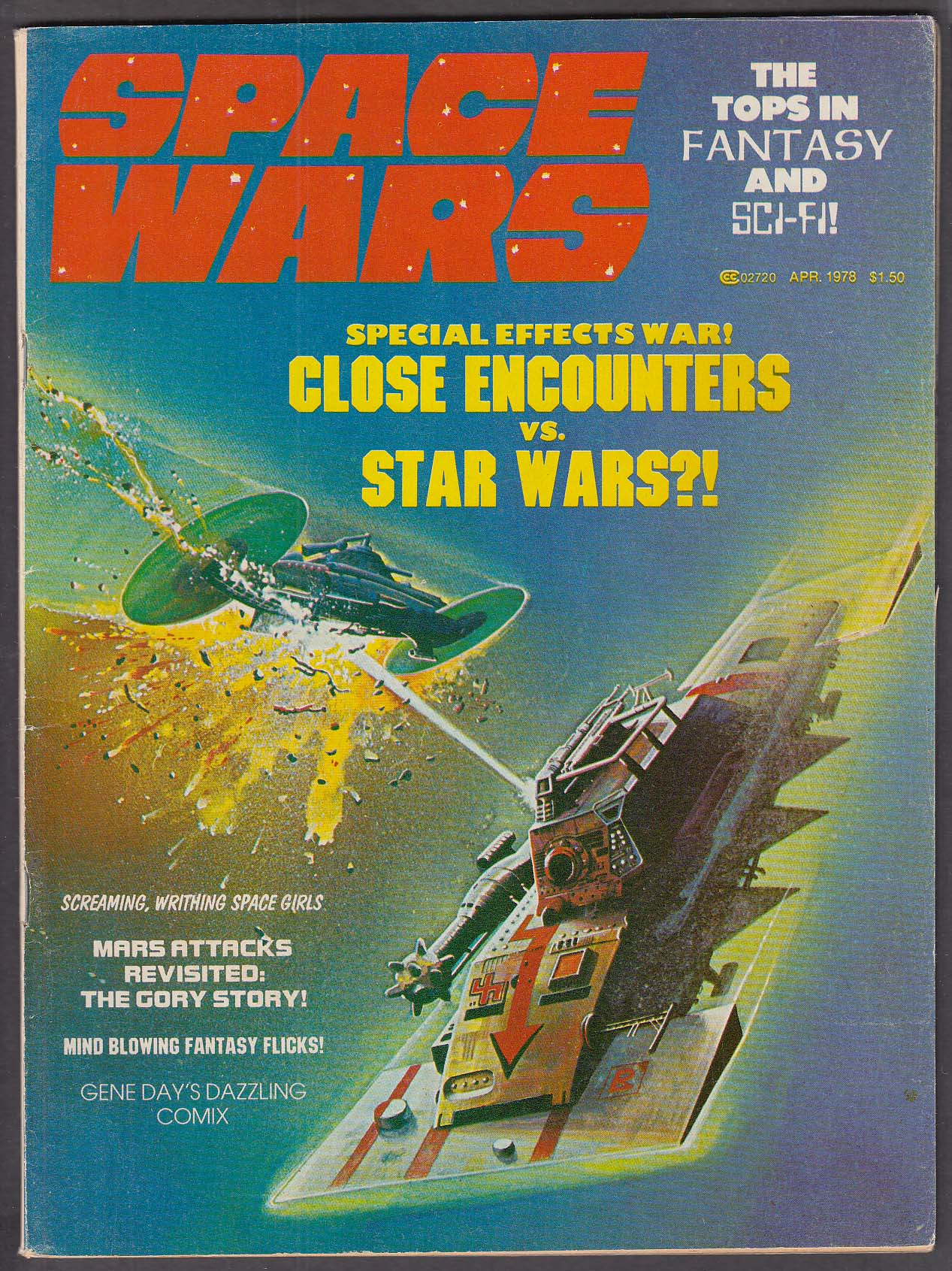 Image for SPACE WARS Close Encounters v Star Wars 4 1978