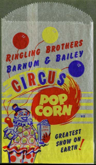 Image for Ringling Bros Barnum & Bailey Circus unused popcorn bag
