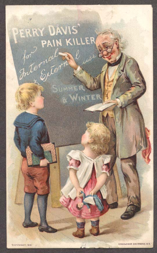 Image for Perry Davis Pain Killer trade card teacher & pupils
