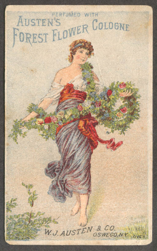 Image for Austen's Forest Flower Cologne trade card Oswego NY