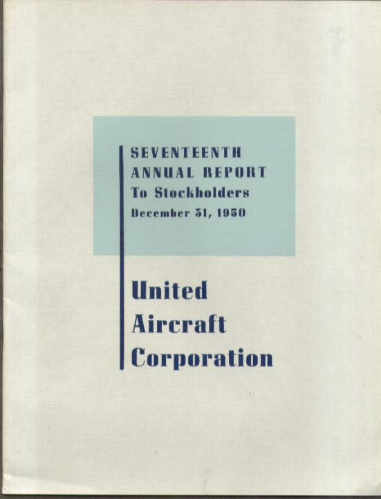 Image for United Aircraft Corporation Report to Stockholders 1950