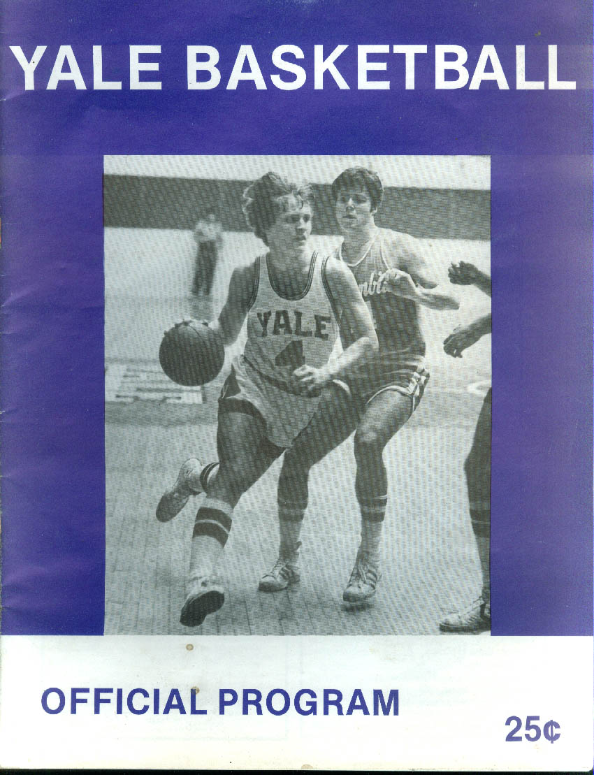 Image for Yale vs Colgate College Basketball Program 1979