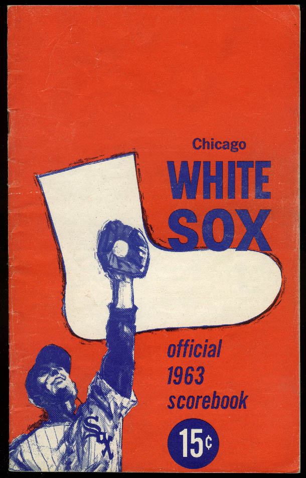 Image for Baltimore Orioles at Chicago White Sox Baseball Scorecard Program 1963
