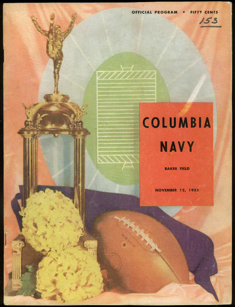 Image for Navy Midshipmen at Columbia University College Football Program 1955