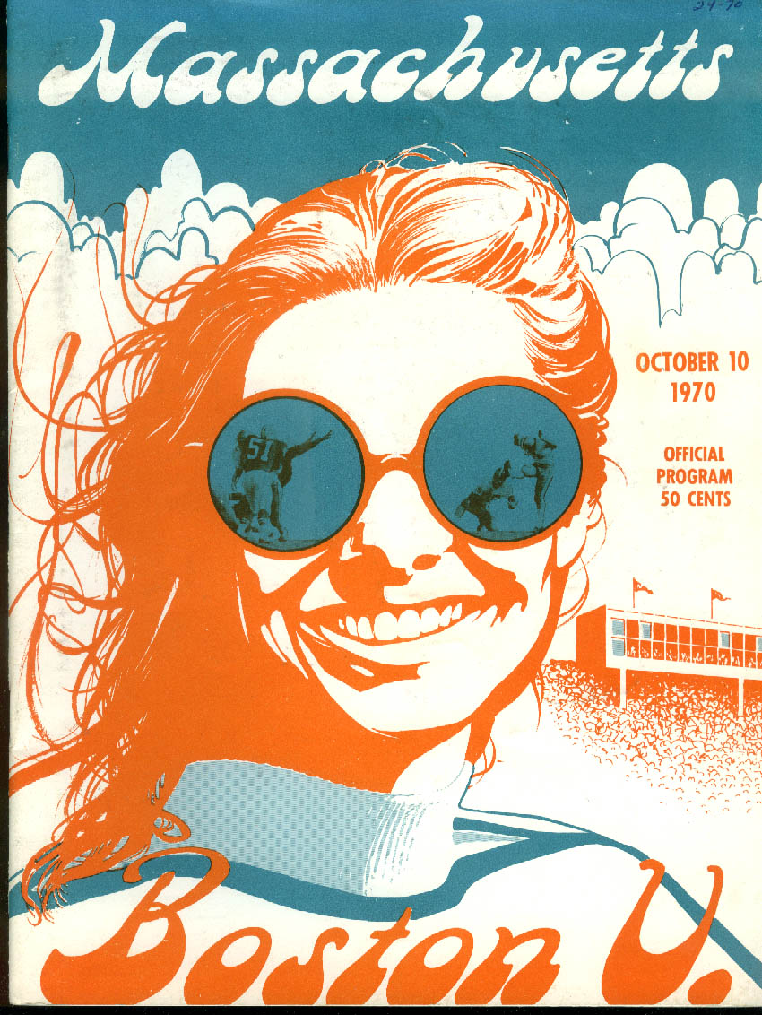Image for Boston University at University of Massachusetts College Football Program 1970
