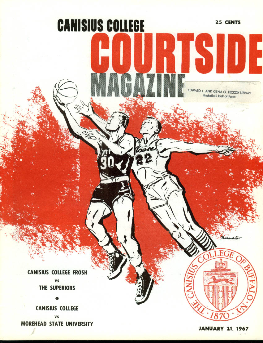 Image for Morehead State U at Canisius College Basketball Program 1/21 1967