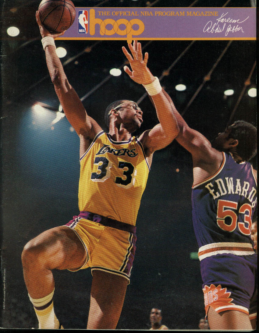 Image for Los Angeles Lakers at New Jersey NetsNBA Program Magazine 2/21 1986 Kareem