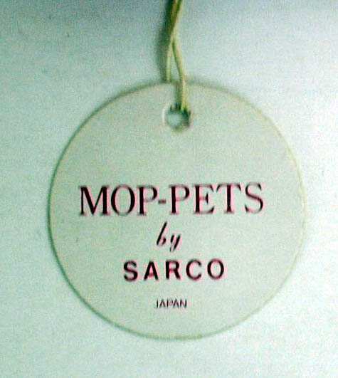 Image for Sarco Mop-Pets red squirrel blue tie ca 1950s original tag