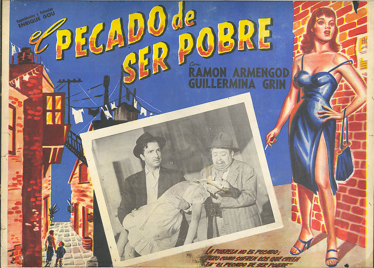 Image for El Percado de Ser Pobre Mexico lobby card 1950