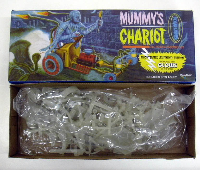 Image for Playing Mantis Polar Lights Mummy's Chariot model kit glows in dark 1996