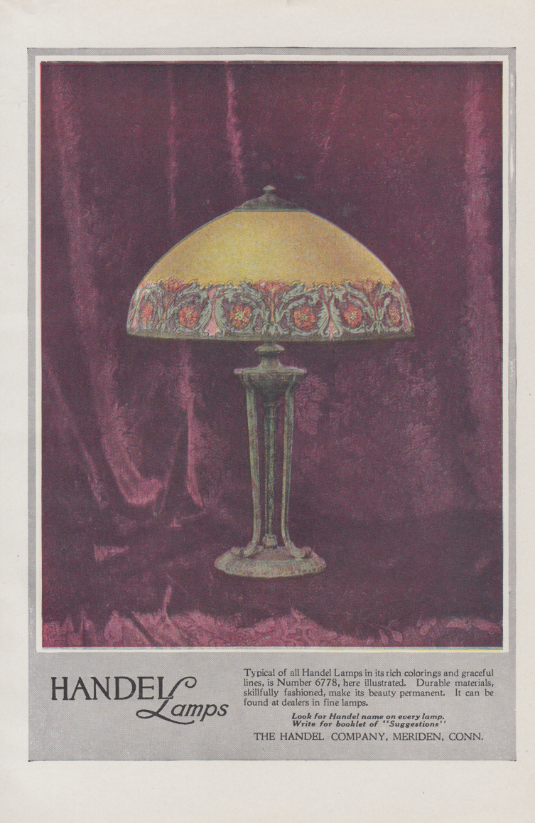 Image for Typical rich colorings in Handel Lamp style 6778 ad 1919