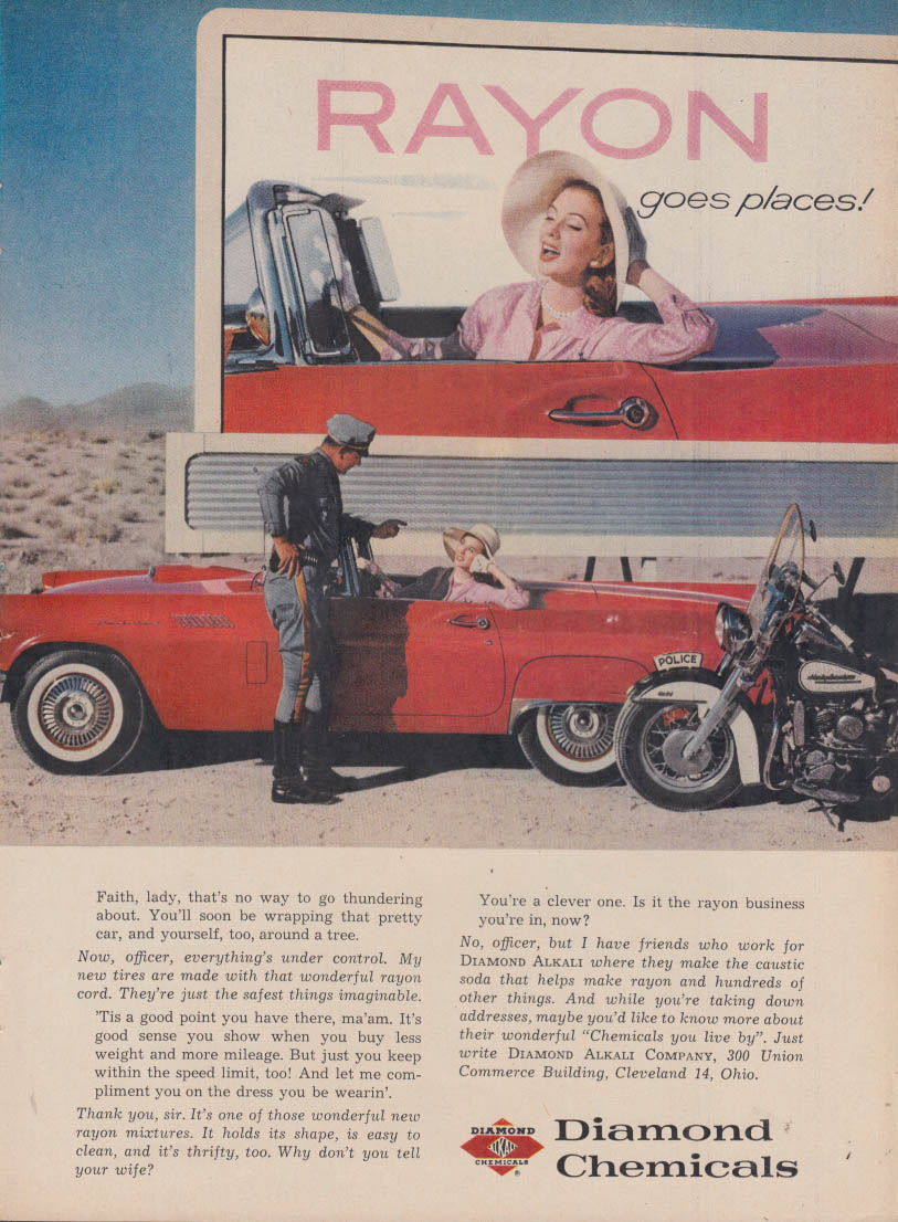 Image for Diamond Chemicals Rayon 1957 Thunderbird / Doulas A4D Skyhawk close support ad