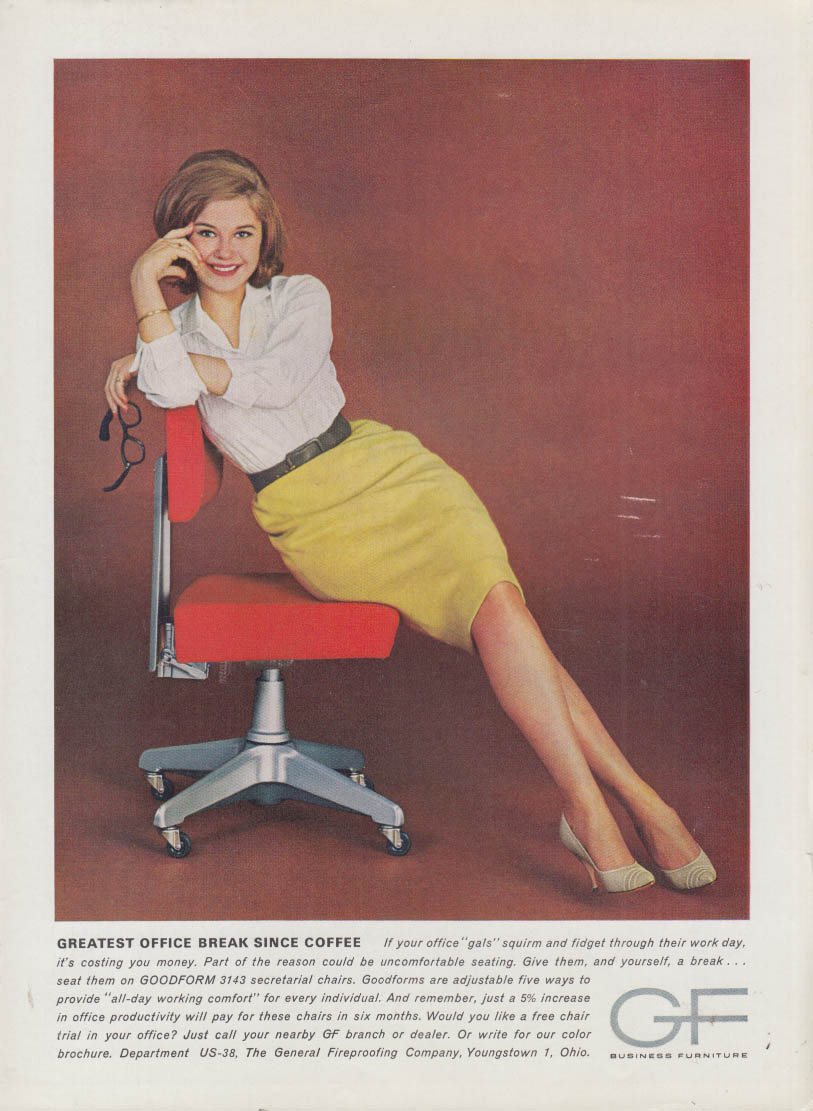Image for Greatest Office Break Since Coffee Goodform Furniture ad 1963 fetching secretary