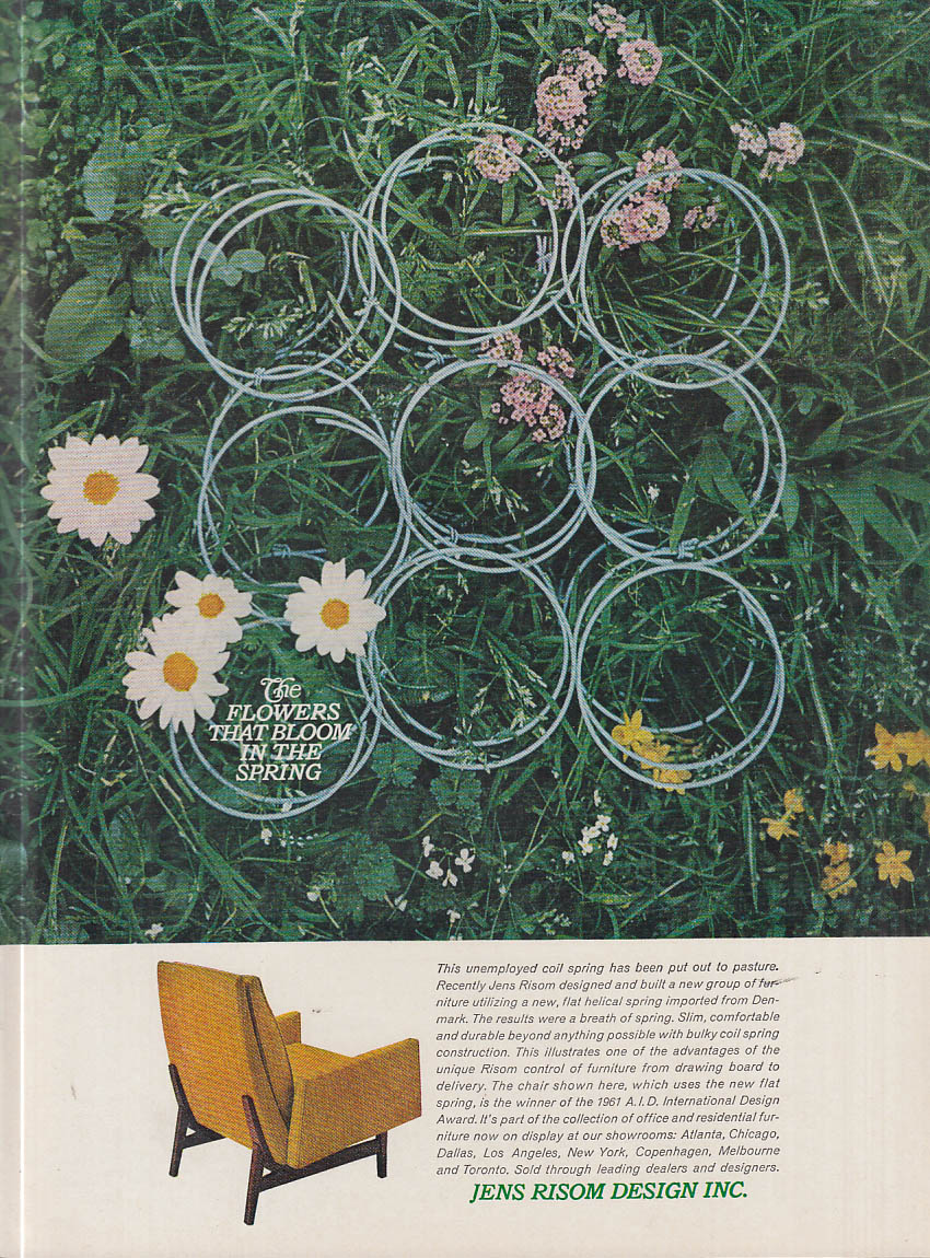 Image for The Flowers That Bloom in the Spring - Jens Risom Design Chair ad 1961