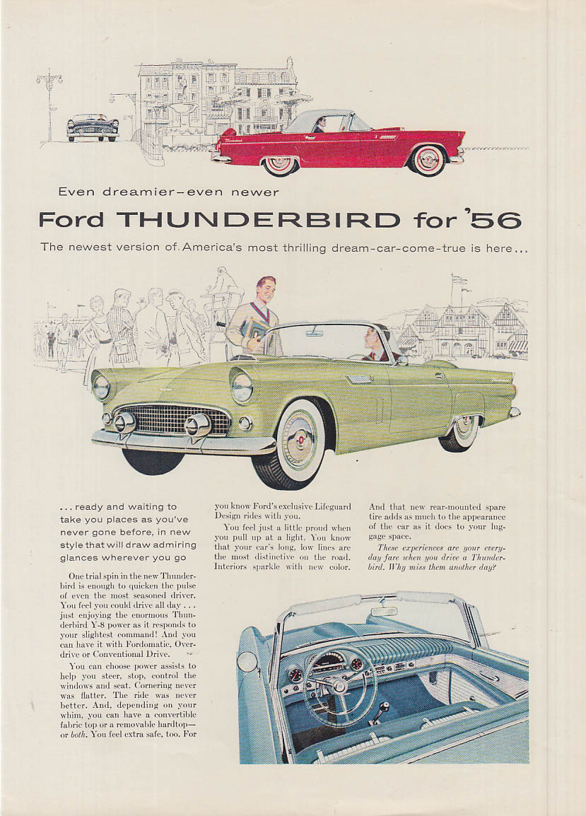 Image for Even dreamier even newer Ford Thunderbird ad 1956 NY