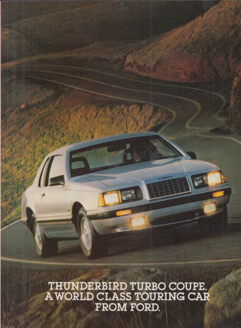 Image for Thunderbird Touring Coupe A World Class Touring Car ad 1983