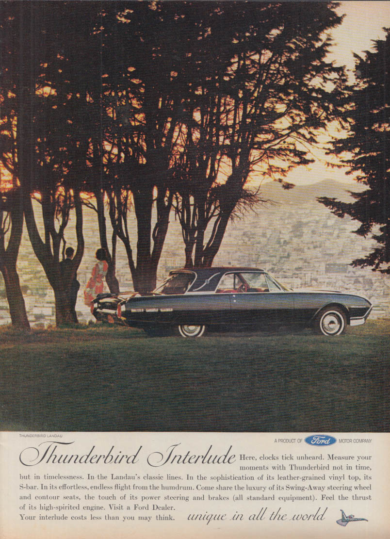 Image for Here the clocks tick unheard Thunderbird Interlude ad 1962 T