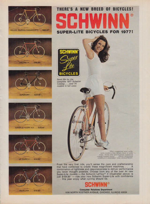 Image for There's a new breed of bicycles! Schwinn Super-Lite ad 1977 SI