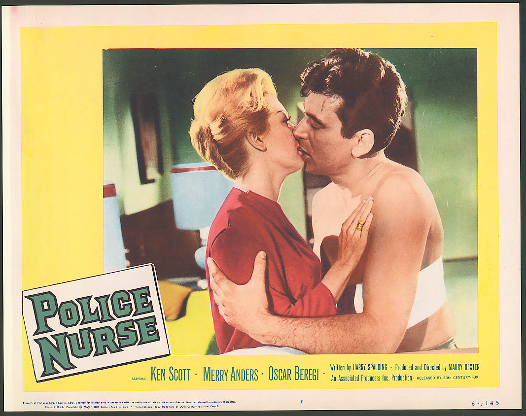 Image for Ken Scott Merry Anders Police Nurse lobby card 1963 #4