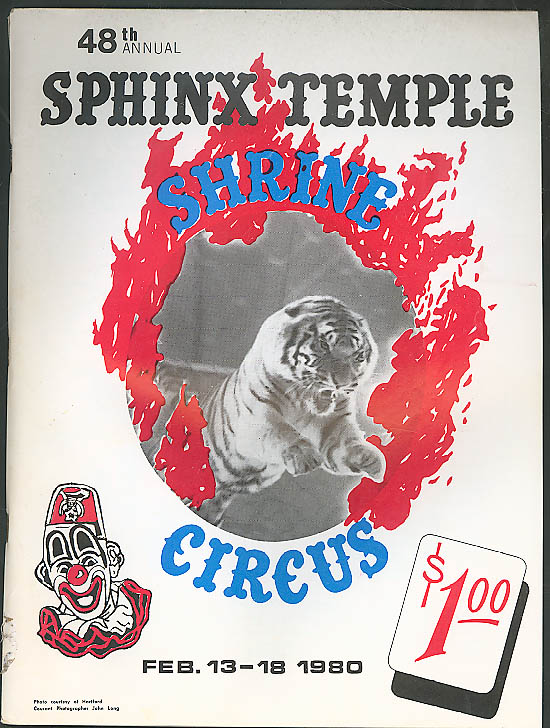 Image for Sphinx Temple Shrine Circus Program 1980