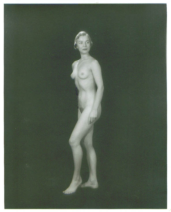 Image for Nude blonde standing in silhouette vintage 8x10 1950s